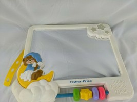 Fisher Price Teddy Beddy Bear Mirror Crib Toy 1407 1987 - $39.95