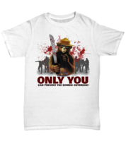 Smokey The Bear Only You Can Prevent The Zombie Outbreak (Large, White) - $17.10