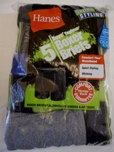 Boy's Hanes Boxer Briefs Small 6-8 Sport Styling Wicking 5 Pack Black Gr... - $12.86