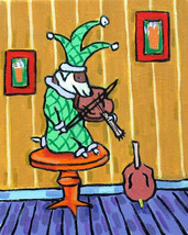 animal Art oil painting printed on canvas home decor russell jester violin - $14.99