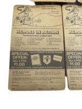 Lot (5) NOS Vintage 1974 Mattel Heroes in Action Card Figure Sealed Package image 5