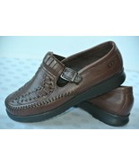 NEW Dexter WalkMocs Womens Sz 8 W Brown Leather Mary Jane Comfort Loafer... - $24.74