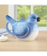 Bluebird Teapot Novelty Hot Drink Server Kitchen Decor Ceramic Blue Bird... - $729.49
