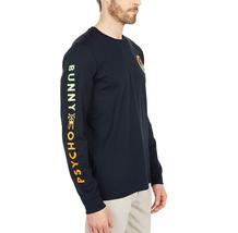 Men's Psycho Bunny Long Sleeve Sheffield Gradient Graphic Tee Logo Navy Shirt image 3
