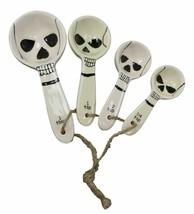 Ossuary Evil Sinister Skulls Ceramic Stackable Measuring Spoons Baking S... - £12.88 GBP