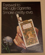 A 1971 Magazine Ad For Eve Filter Cigarettes - $5.93