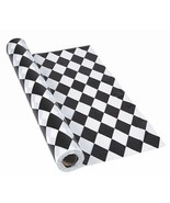 """Harlequin Tablecloth Roll (40"""" x 100ft.) Black and White Checker Table C... - $32.29"""