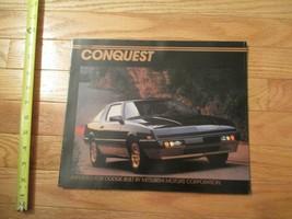 Dodge Conquest Mitsubishi motors 1984 car Auto Dealer showroom Sales Bro... - $8.99