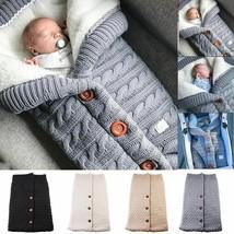 Newborn Baby Winter Sleeping Bags Infant Stroller Warm Wrap Toddler Knit Blanket
