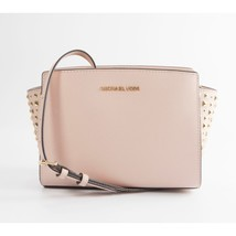 Michael Kors Ballet Studded Saffiano Leather Selma Medium Cross Body Bag... - $125.81