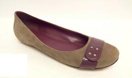 COLE HAAN Size 8.5 Beige Suede Ballet Flats Shoes 8 1/2 - $29.25