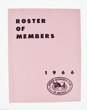 Antique Automobile Magazines 1966 Roster of Members Antique Automobiles,... - $10.00
