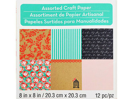 Michael's Melodies and Lace Assorted Craft Papers 8x8 Inches #257213