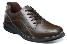 Nunn Bush Kore Walk Moc Toe Oxford Shoes Dark Brown 84811-201 - $71.99