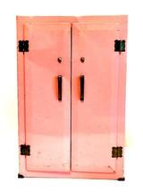 Vintage Wolverine Metal Doll Wardrobe Dresser Pink 13.5 inches Tall - $87.11