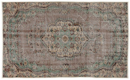 Bespoky Vintage Handwoven Kilim Rug Naturel Medium Size 5'0'' X 8'3'' Ft - $1,754.00