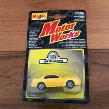 Maisto works limited edition 124, 1999 yellow ford mustang, die cast met... - $14.30