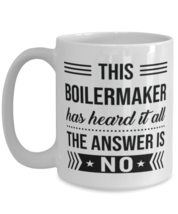 Coffee Mug for Boilermaker - 15 oz Funny Tea Cup For Office Co-Workers Men  - $16.95