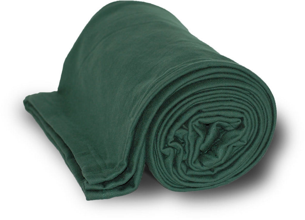 "Case of [24] Deluxe Heavyweight Sweatshirt Blanket 50"" x 60"" - Forest"