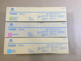 Genuine Konica TN611 CMY Color Set Toner for Bizhub C451 C550 C650 Fast ... - $206.91