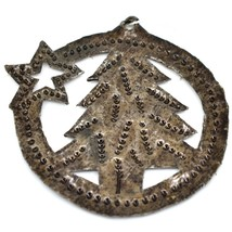 Croix Des Bouquets Christmas Tree with Star Design Holiday Ornament Made Haiti image 2
