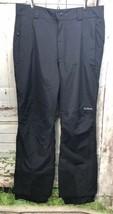 LL BEAN Mens snow ski Rain pants black mesh lined reinforced hem Medium - $34.64