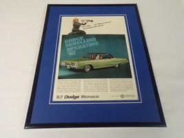 1967 Dodge Monaco Framed 11x14 ORIGINAL Vintage Advertisement - $41.71