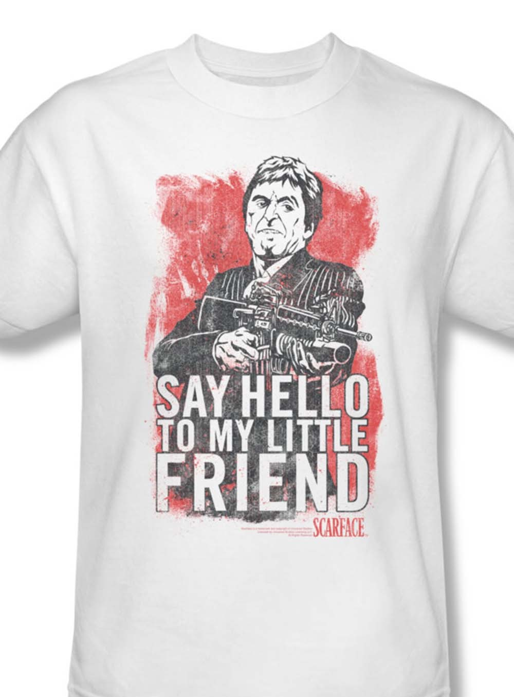 O to my little friend al pacino tee crime thriller pfeiffer for sale online white graphic tshirt