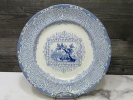 "Staffordshire Antique GISPY Gyspy Blue Transferware Dinner Plate 10.25"" - $43.56"