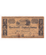 1840 Bank of the United States $1000 dollars No 8894-Novelty, Reproduction - $11.29