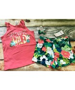 Gymboree 5 6 7 8 Sunny Safari Go Wild Tank Top Tropical Shorts Hair NWT ... - $17.99