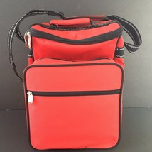 Insulated Picnic Cooler Travel Bag w/strap Tote For 2 People - Red 13x9 - $16.50