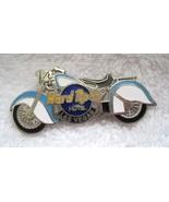 Hard Rock Cafe Motorcycle Chopper Enameled Pin Las Vegas Blue & White T74 - $16.34