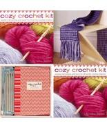 New Cozy Crochet Kit 25 Projects Yarn Hooks Boxed Set Learn By: Melissa ... - $19.95