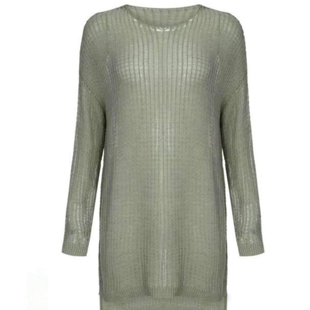 Loose Knitted Asymmetrical Women Sweater Dress