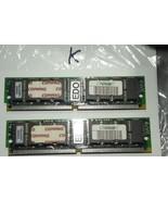 Matching pair Compaq 185207-002 72-Pin Tin 60ns 16-Chip EDO Memory Modules - $38.88