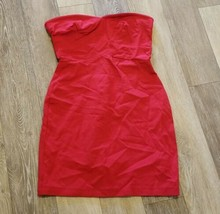 Women's Eight Sixty Short Club Dress ~ Red ~ Fitted ~ Sz Small ~ Strapless - $19.79