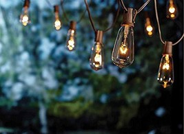 Yeesun String Lights, 20Ft ST40 Edison Lights 20 Clear Bulbs Indoor/Outd... - $24.44