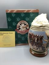"""Anheuser-Busch Collector's Club - 2001 Membership Stein """"Living the Legacy"""" - $30.00"""