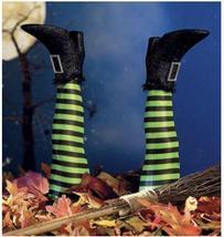 Halloween Creative Art Decoration Prosthesis Witch Leg Garden Decoration - $37.60