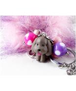 Makkachin Poodle Figurine Bag Charm and Keychain with Pom Pom, Handmade,... - $31.00