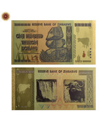 WR Zimbabwe 100 Trillion Dollars Banknote Color Gold Bill World Money Co... - $3.00