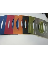 Picture Frame Mats set of 12 mats 5x7 for 4x6 photo oval six colors - $8.99