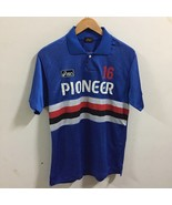 ASICS BLUE FOOTBALL SOCCER SHIRT JERSEY Size L Large S/S Polo Pioneer - $39.59