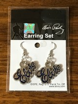 Elvis Presley Silver & Blue Signature Earring Set Brand New Sealed in Pa... - $49.49