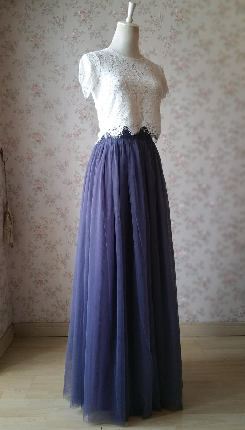 Maxi tulle skirt purple 780 1