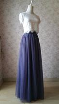 PURPLE Long Tulle Skirt Women High Waist Long Tulle Skirt Purple Wedding Skirt image 3