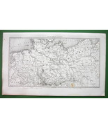 1859 ANTIQUE MAP - Northern Germany & Eastern Poland - $16.20