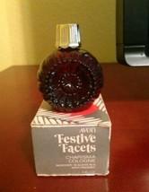 Avon Festive Facets Ornament (red glass) Cologne Decanter- Charisma - 1979 - $7.19