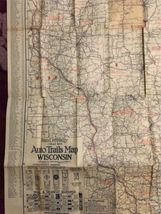"Vintage1924 Rand McNally Wisconsin Auto Trails Map Folding 34""x27"" image 4"